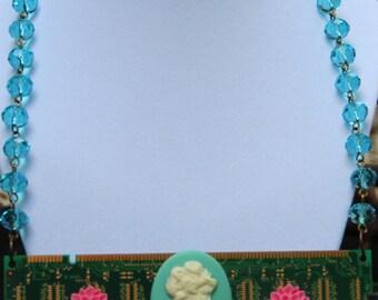 Cameo Computer RAM Princess Geek Girl Necklace