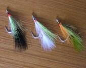 Big Game Fly Fishing Marabou Deceiver streamer flies striper tarpon pike musky bass jacks, Fisherman's Gift