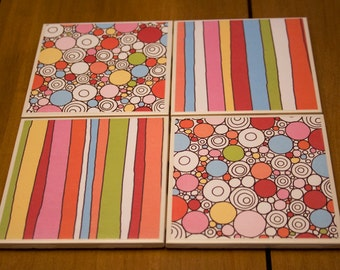 Tile Coasters - Doodle & Squiggle