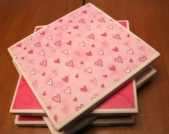 Tile Coasters - Sweet Hearts
