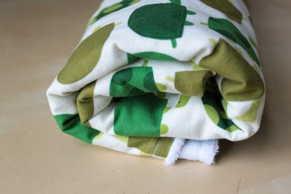 Baby Blanket : On White Minky  / Newborn Blanket / Baby Boy Blanket / Toddler Blanket / Urban Zoology Turtles / Robert Kaufman