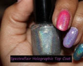 Home made FULL-SIZED 15ml Spectraflair top coat.. GORGEOUS holographic nail polish..Use it alone or over your favorite polish