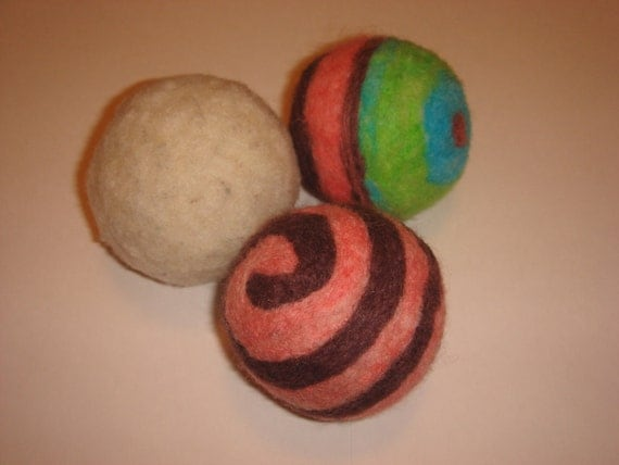 Wool Felted Balls