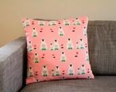 """Marimekko Jääkarhu pillow cover in pink, 45x45cm (18x18"""") - Throw pillow - Cushion case"""
