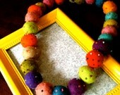 multi colored felt necklace