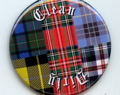 "TARTAN Scottish Scotland Plaid Dishwasher Clean/Dirty 2.25"" large Round  Magnet"