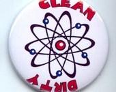 "ATOM MOLECULE Molecular Science Dishwasher Clean/Dirty 2.25"" large Round  Magnet"