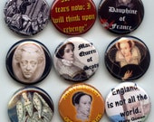 "MARY Queen of Scots 9 Pinback 1"" Buttons Badges Pins"