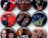 "Doctor Jekyll and Mr Hyde 9 Pinback 1"" Buttons Badges Pins"