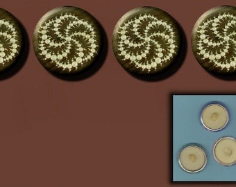 CROP CIRCLE St. Catherine's Wheel UFO 4 Altered Art Sew-On Shank Buttons