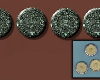 """MAYAN CALENDAR 2012 4 Altered Art 1"""" Sew-On Shank Buttons"""