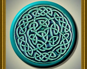 "CELTIC ENDLESS KNOT  2.25"" large Round Fridge Magnet"