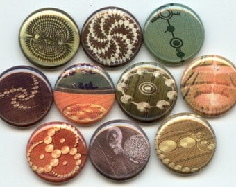 "CROP CIRCLES 10  Pinback 1"" Buttons Badges Pins"