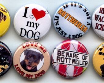 """ROTTWEILER Pet Guard Dog 8 Pinback 1"""" Buttons Badges Pins"""