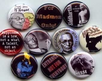 "Herman HESSE Steppenwolf German Swiss poet novelist 10 Pinback 1"" Buttons Badges Pins"
