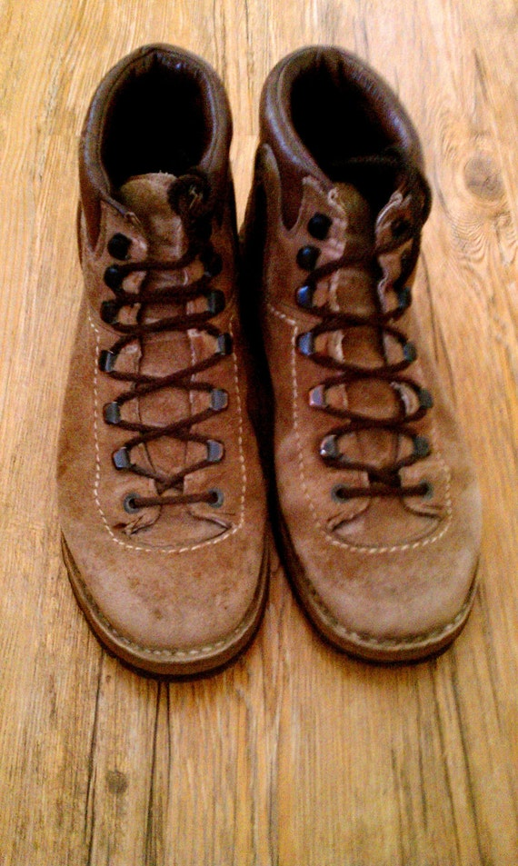 Vintage Leather Meindl German Hiking Boots Size 40 - Made in Germany