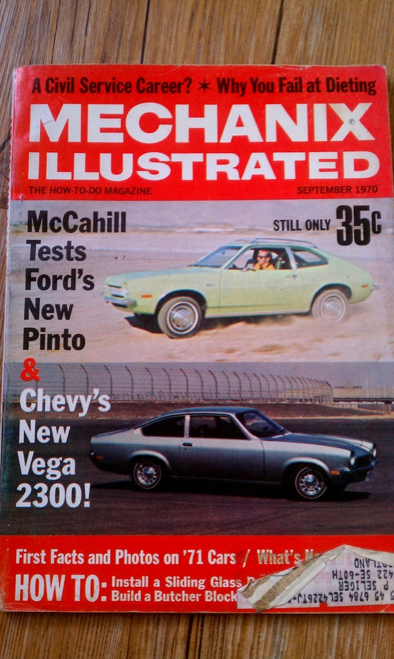 Vintage Mechanix Illustrated September 1970 / The How-to-Do Magazine / Ford Pinto & Chevy Vega