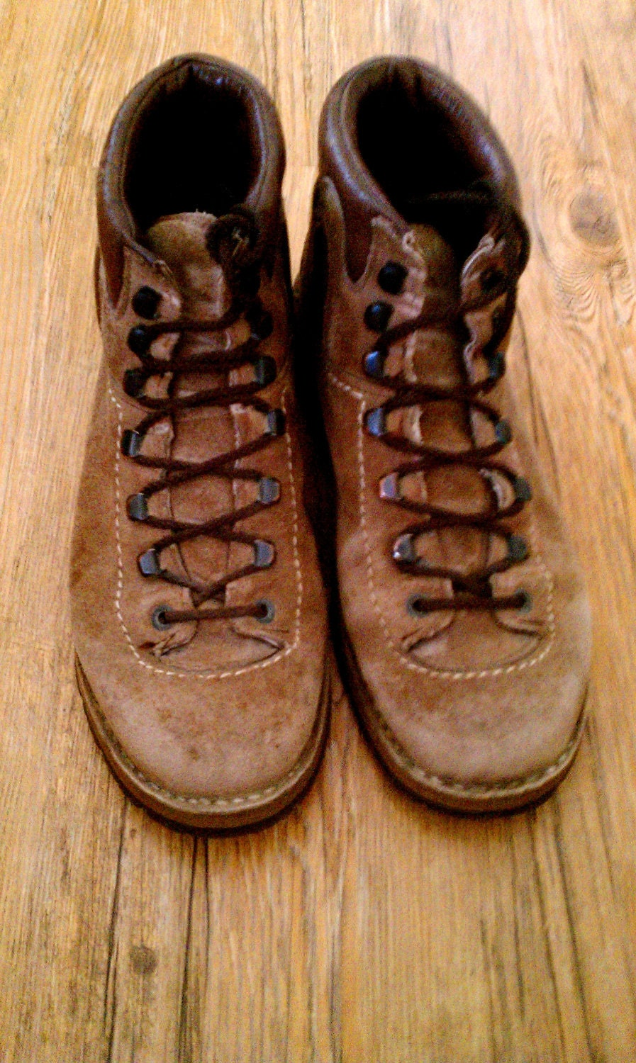 Vintage Leather Meindl German Hiking Boots Size 40 Made In