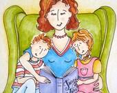 Nursery Art, Story Time Art - Children's Hour