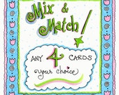 Assorted Cards - Mix and Match, Any 4 Cards, Your Choice