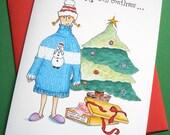 Funny Christmas Card - Ugly Sweater Holiday Card, Christmas Humor