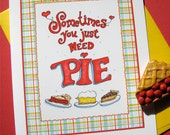 Pie Note Cards Set - Pie Stationery - Gift for Baker - Boxed Set of 4 Notes