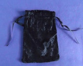 Tarot Bag Large - Black Crushed Velvet