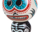 Day of the Dead Kokeshi Doll