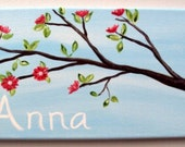 """7x14"""" tree branch canvas painting"""