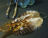 Earth gypsy ( cruelty free long feather earrings) (natural feather earrings)