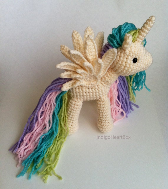 Crochet Unicorn : Crochet Amigurumi Pony by IndigoHeartBox on Etsy