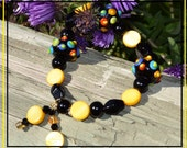 Mix and Match It All with Black - Glass Beaded Bracelet