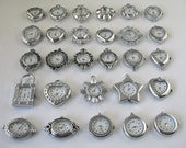 30pcs of Beautiful Mixed style silver Watch Face charms/links, REAL Watch faces, Watch Making, DIY Jewelry