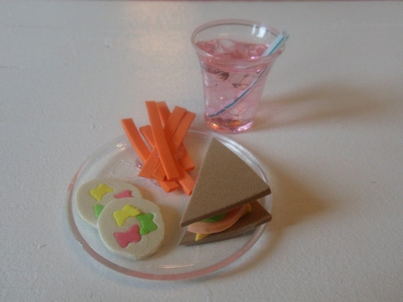 """Doll food and drink for pretend play.  (18"""" dolls)"""