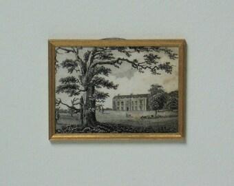 Miniature Antique Lithograph OOAK