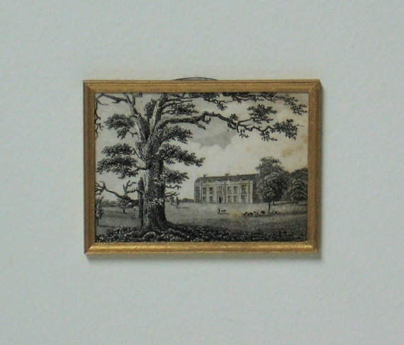 Miniature Antique Lithograph OOAK