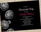 Printable Bachelorette Party Invitation, Personalized Digital Design, Customize Colors, DIY