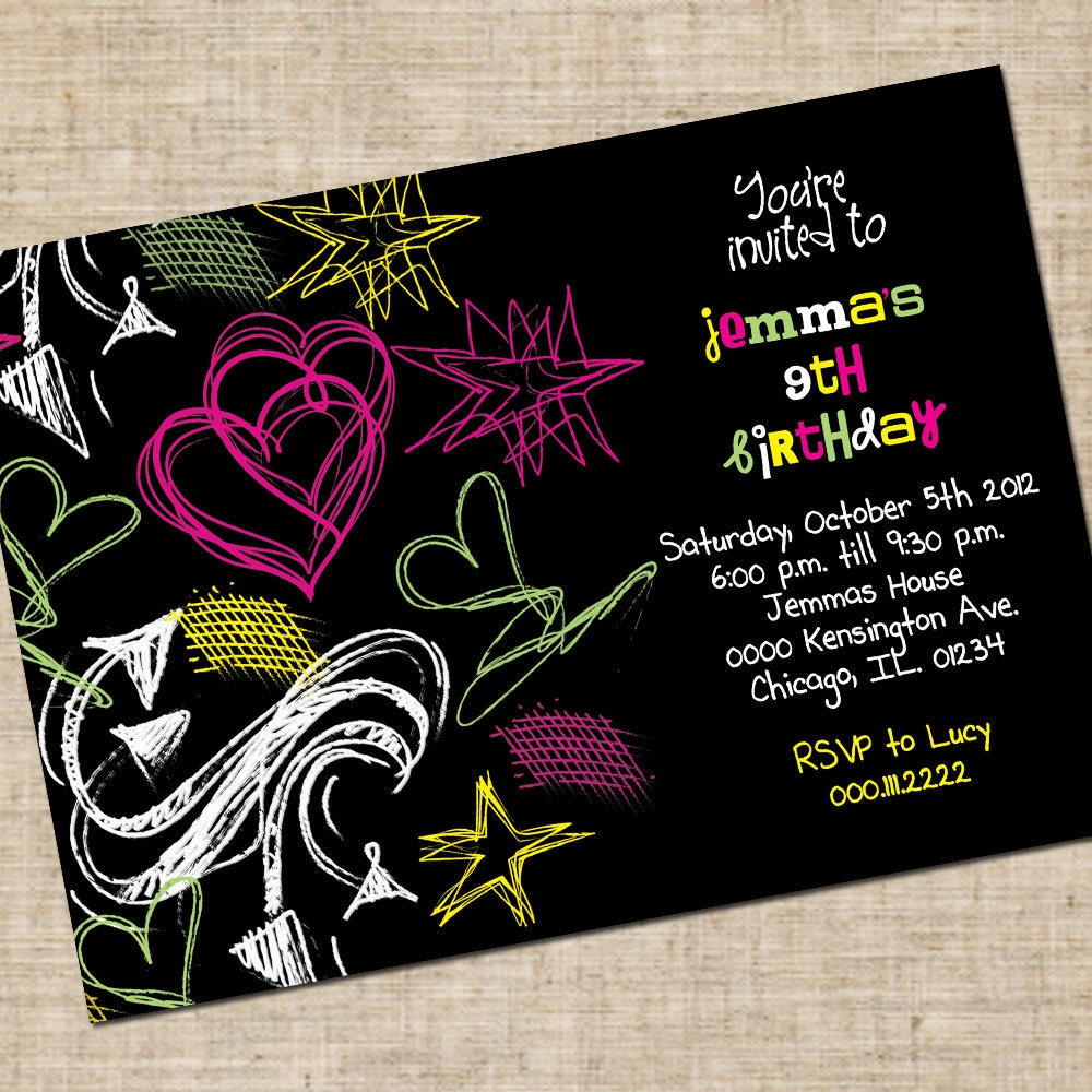 ... 10> Images For - Birthday Invitations For Teenage Girls Printable