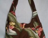 Chocolate Tropical Hobo Bag