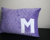 Toddler Pillow - Purple - with Custom Letter