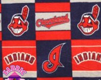 114226008-  Major League Baseball Cleveland Indians Fabric By The Yard