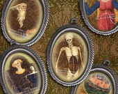 Medieval Tarot Card - 18 x 25mm Cameo Size Ovals - Digital Collage Sheet - Instant Download and Print