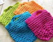 Grocery Shopping Bag Pattern, handmade crochet, small produce tote