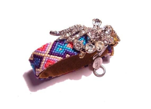 Vintage Rhinestone Friendship Bracelet - Lost Memories