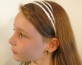 Headband:  three-strand crochet