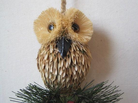 vintage hanging owl ornament