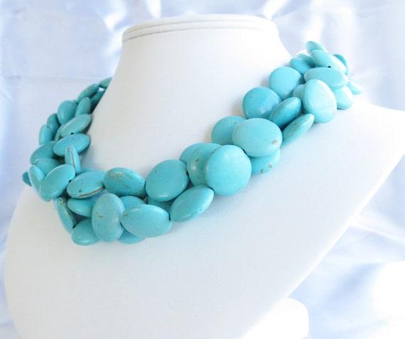 Turquoise Bridesmaid Necklace - Turquoise Bridal Jewelry