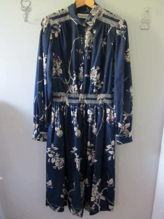 SALE // Vintage MANNING SILVER...design Shirt Dress
