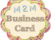 Made To Match Business Card Design From Dink A Doo Studios