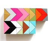 Austin Color Block Magnets  | |  24 Count Set | | Wood | | Geometric | | Office & Kitchen Decor | |  FEATURED in The Food Network Magazine!